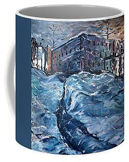 City Snow Storm Coffee Mug