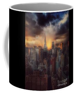 City Splendor - Sunset In New York Coffee Mug by Miriam Danar