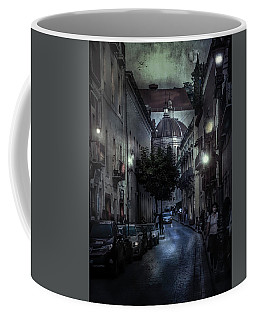 City Street With Prayer Coffee Mug