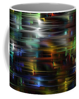 Coffee Mug featuring the digital art City Streets by Greg Moores