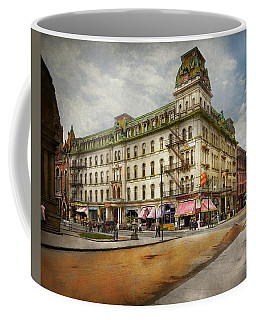 Coffee Mug featuring the photograph City - Toledo Oh - Got A Boody Call 1910 by Mike Savad