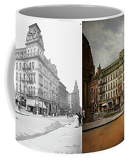 Coffee Mug featuring the photograph City - Toledo Oh - Got A Boody Call 1910 - Side By Side by Mike Savad