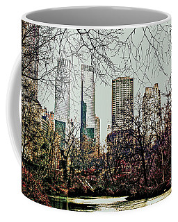 Coffee Mug featuring the photograph City View From Park by Sandy Moulder
