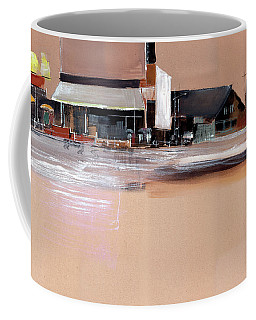 Coffee Mug featuring the painting Cityscape 3 by Anil Nene