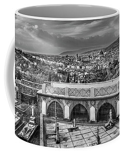 Coffee Mug featuring the photograph Cityscape Of Florence And Cemetery by Sonny Marcyan