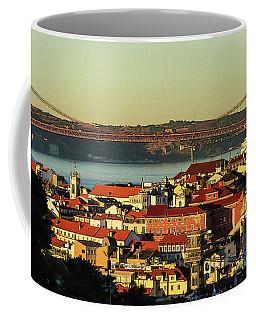 Lisbon At Sunrise - Poster Edges Coffee Mug