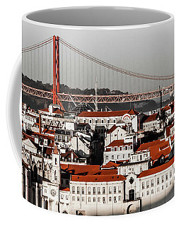 Lisbon In Black, White And Red Coffee Mug