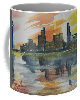 Coffee Mug featuring the painting Cityscape by Reed Novotny