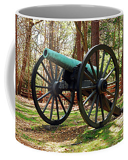 Civil War Cannon Coffee Mug by James Kirkikis