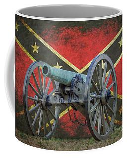 Civil War Cannon Rebel Flag Coffee Mug