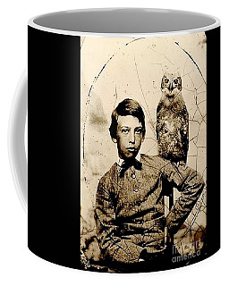 Civil War Era Boy With His Pet Owl Tintype Coffee Mug by Peter Gumaer Ogden Collection