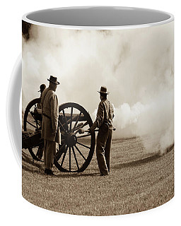 Civil War Era Cannon Firing  Coffee Mug