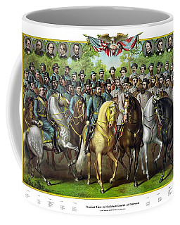 Civil War Generals And Statesman With Names Coffee Mug