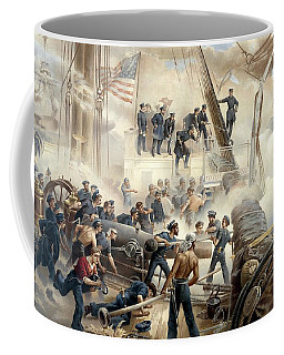 Civil War Naval Battle Coffee Mug