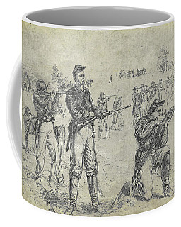 Coffee Mug featuring the digital art Civil War Union Cavalry Troopers by Randy Steele