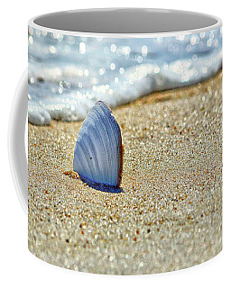 Clamshell In The Waves On Assateague Island Coffee Mug