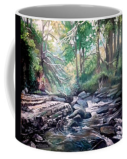Coffee Mug featuring the painting Clare Glens ,co Tipparay Ireland by Paul Weerasekera