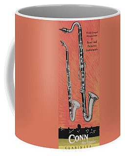 Clarinet And Giant Boehm Bass Coffee Mug