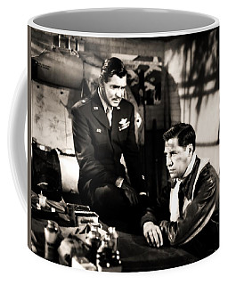Coffee Mug featuring the photograph Clark Gable Hollywood Heart Throb In The Movie Command Decision by R Muirhead Art