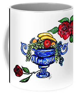 Coffee Mug featuring the painting Classic Fruit Bowl Digital Enhanced by Clyde J Kell