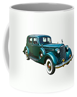 Classic Green Packard Luxury Automobile Coffee Mug