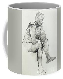 Classic Life Drawing Of A Sitting Man Sleeping Coffee Mug
