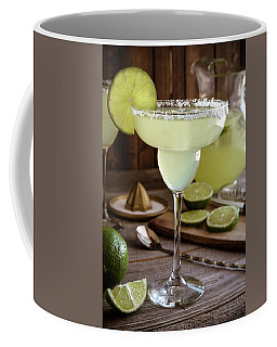 Classic Lime Margaritas On The Rocks Coffee Mug by Teri Virbickis