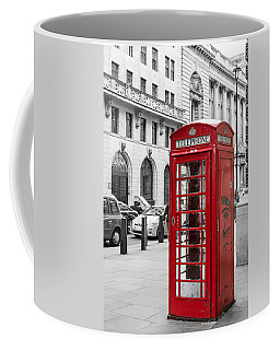 Red Telephone Box In London England Coffee Mug