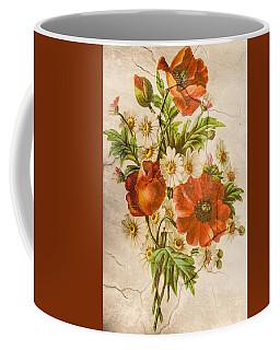 Classic Vintage Shabby Chic Rustic Poppy Bouquet Coffee Mug