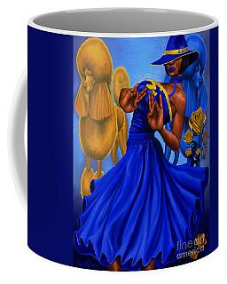 Classy Blue And Gold Coffee Mug