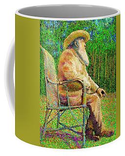 Claude Monet In His Garden Coffee Mug by Hidden Mountain