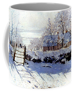 Coffee Mug featuring the photograph Claude Monet The Magpie - To License For Professional Use Visit Granger.com by Granger