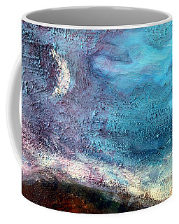 Coffee Mug featuring the painting Clay Moon by Winsome Gunning