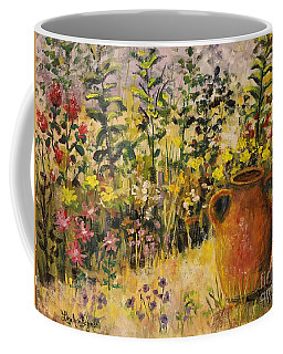 Clay Pot In The Garden Coffee Mug by Lou Ann Bagnall