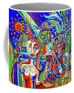 City At Night Music And Wine Abstract Coffee Mug