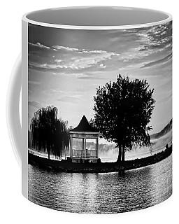 Claytor Lake Gazebo - Black And White Coffee Mug