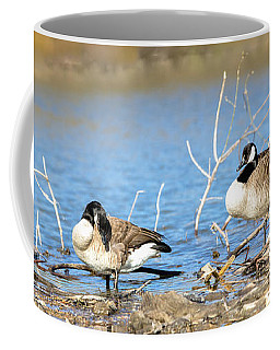 Coffee Mug featuring the photograph Cleaning On Debris by Steven Santamour