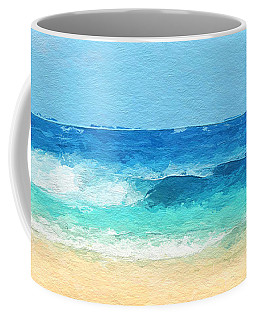 Clear Blue Waves Coffee Mug by Anthony Fishburne