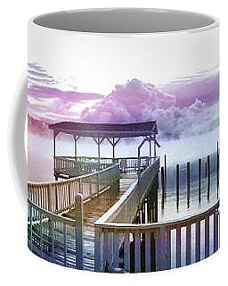Clouds On Clear Lake Coffee Mug