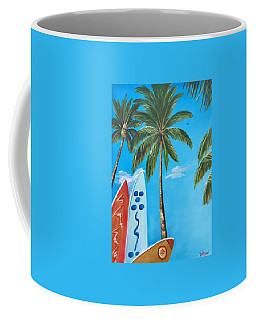 Clear Sky Let's Surf Coffee Mug