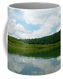 Clear Water - Clouds Reflect In The Water Coffee Mug