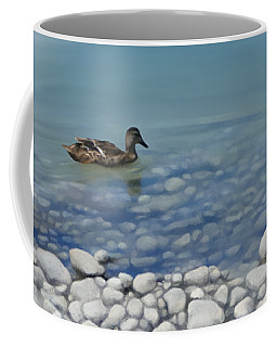 Coffee Mug featuring the painting Clear Water  by Ivana Westin
