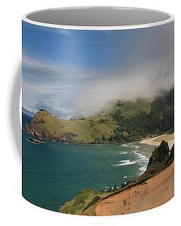 Clearing Fog Along The Oregon Coast Coffee Mug