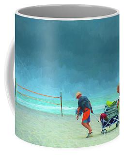Clearing The Beach Coffee Mug