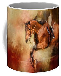 Clearing The Jump Equestrian Art Coffee Mug