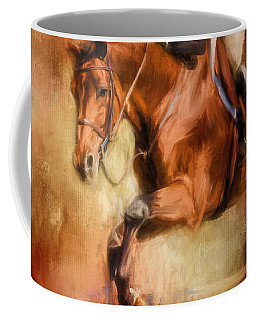Clearing The Jump Equestrian Art Coffee Mug
