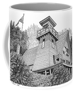 Cleft Of The Rock Lighthouse Coffee Mug by Lawrence Tripoli