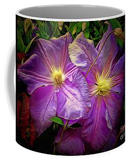 Clematis Azure Pearl Coffee Mug