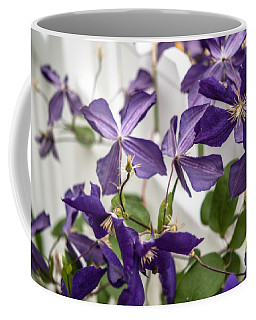 Clematis On A Fence Coffee Mug