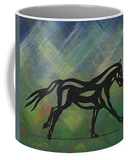 Clementine - Abstract Horse Coffee Mug